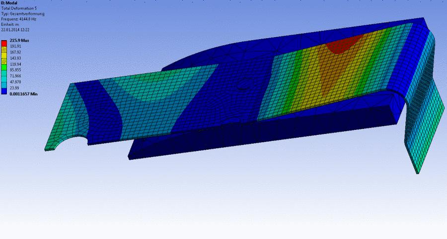 Modalanalyse der Felder des Relais in Ansys Mechanical